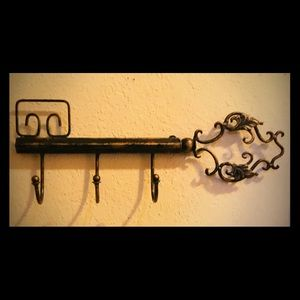 Wrought Iron Guest Towel, Key or Misc.Holder